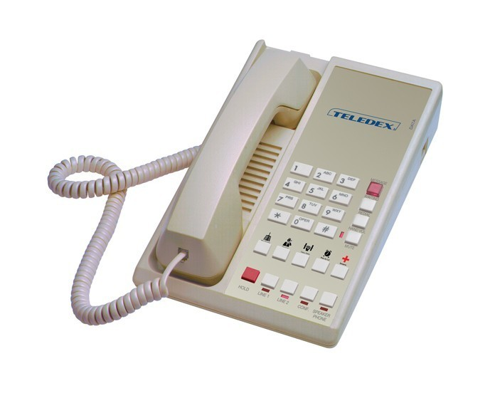 Teledex Diamond L2S-5E 2 Line Guest Room Telephone Ash DIA67149