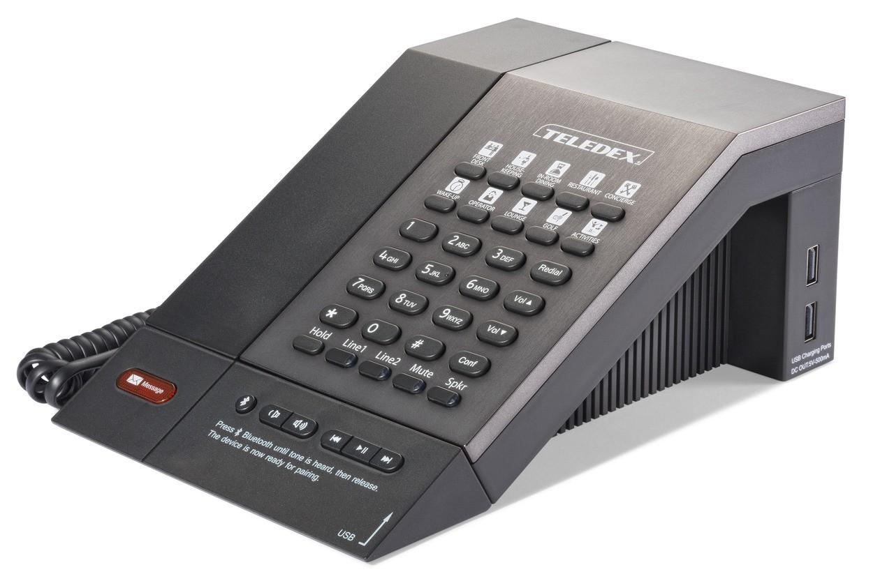 Teledex M Series Guestroom Telephone 2 Line 10 Button USB Bluetooth