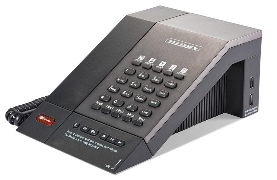 Teledex M Series Guestroom Telephone 2 Line USB Bluetooth