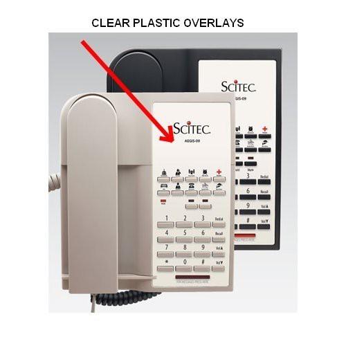 Scitec Aegis 08 Clear Plastic Overlays 25 Per Pack
