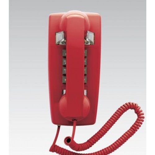 Scitec Aegis Single Line Emergency Wall Phone Red 25403