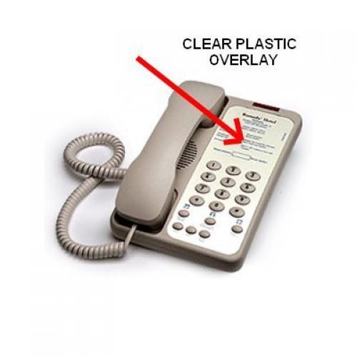 Teledex Opal Clear Plastic Overlays 25 Per Pack