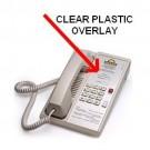 Teledex Diamond Clear Plastic Overlays 25 Per Pack