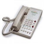 Teledex Diamond L2S 6 Two Line Guestroom Telephone Ash