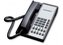 Teledex Diamond+10 Hotel Hospitality Guestroom Telephone Black DIA652391