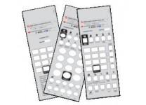 25 Teledex Diamond Opal Custom Paper Face Plate Printing