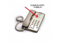 Teledex Opal Clear Plastic Overlays 25 Per Pack